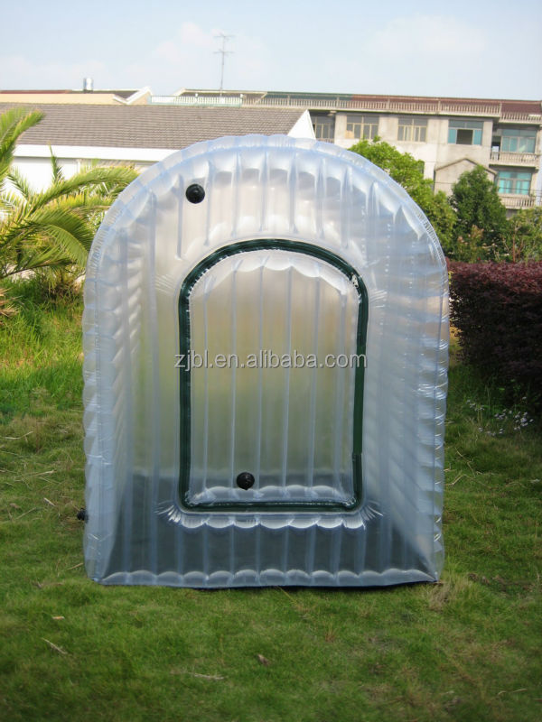 PVC Garden Green House/Inflatable greenhouse with foot pump