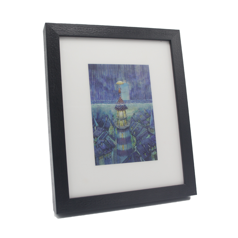 Lighthouse Art 3d Picture Frame Box By Black Solid Wood For Wall ...