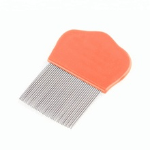 Metal stainless steel anti flea/nit/dematting dog grooming pet lice comb for pet