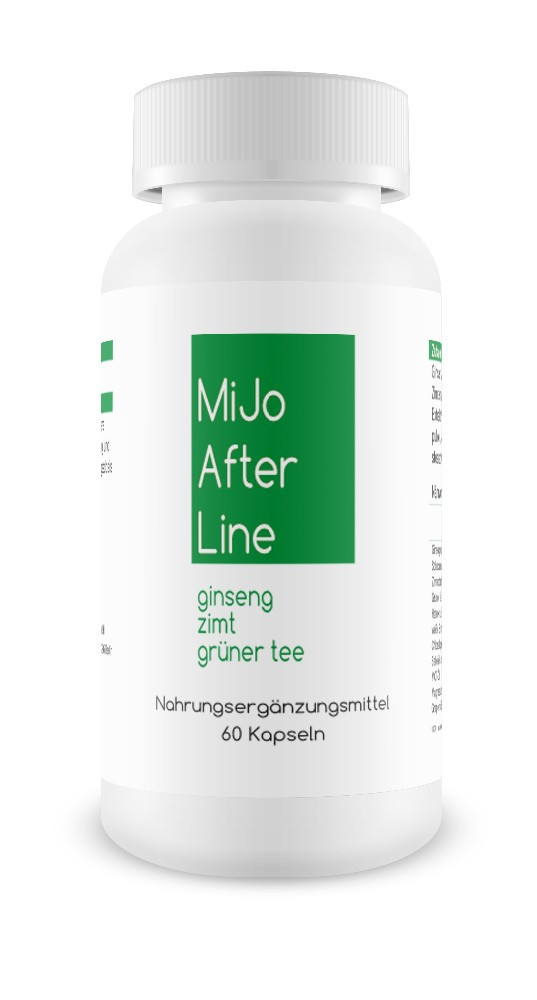 MiJo After Line, appetite suppressants, 60 capsules, Ginseng + Cinnamon + Green Tea