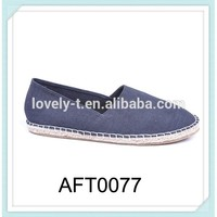 new arrival hot selling women men Uni comfortable navy classic canvas straw sole espadrilles loafer casual shoes