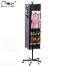 Gifts Store Key chain Retail Custom Made Floor Standing Rotatable Metal Keychain Display Rack