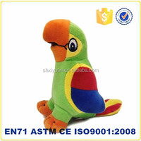 plush parrot birds/blue bird plush toy/plush toy birds