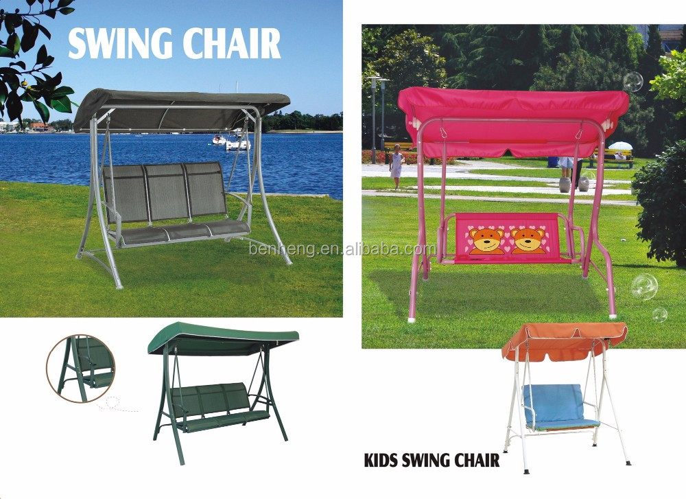 Three 3 Seat Outdoor Patio Swing Chair