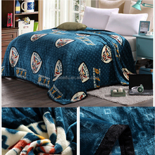 Very soft and warm hand feeling custom embroidery flannel fleece eskimo blanket