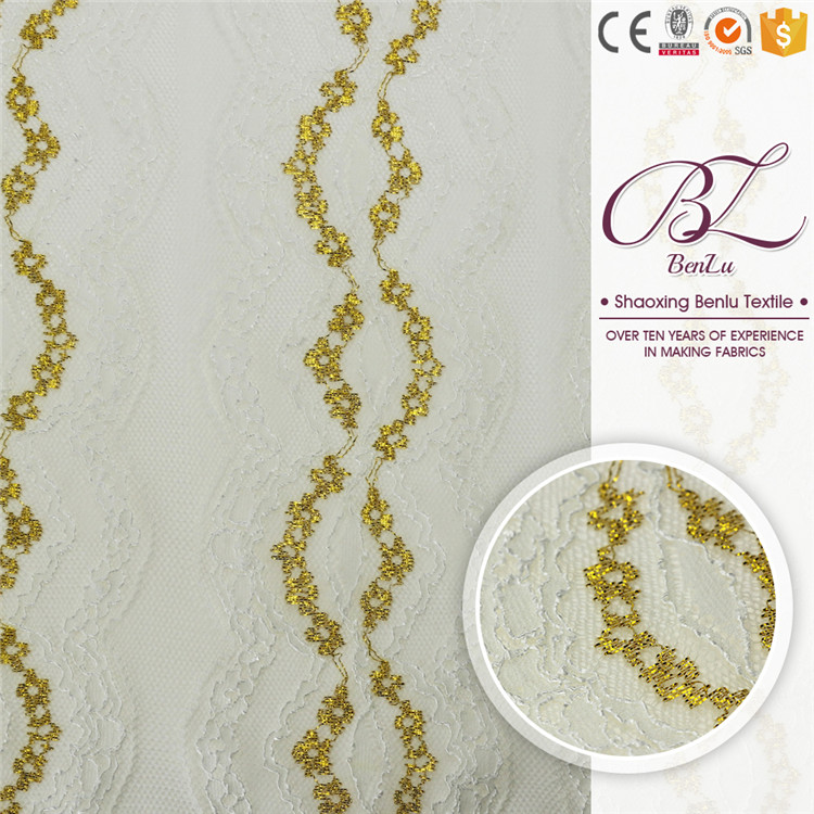 Nice clothing organza embroidery textile lace fabric