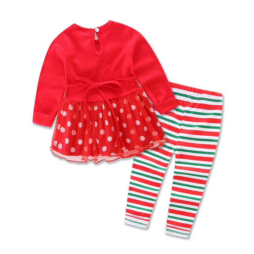wholesale kids clothes little deer pached shirt set children's christmas set