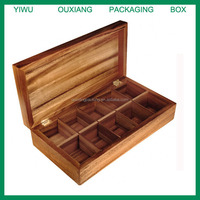10 Compartments Luxury Wooden Tea Bag