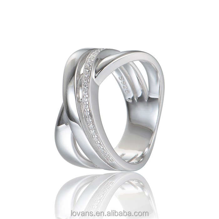 Diamond Ring Jewelry Couple Ring White Gold Jewellery Party Ring RIPY066-7