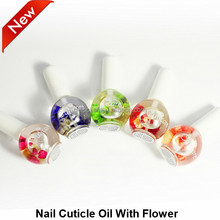 OEM/private label service offered nail cuticle oil with dry flower