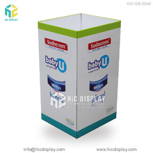 Advertising cardboard recycling bin stand,dump bin display for retail