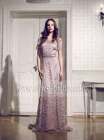 S1886 Amazing scoop short sleeve embroidered lace asian prom dresses
