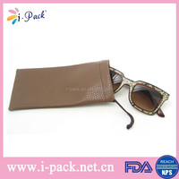 Custom leather sunglass pouches/ double drawstring soft pouch for cell phone
