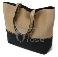 OEM constrast color neoprene ladies' brief handbag/ shoulder bag