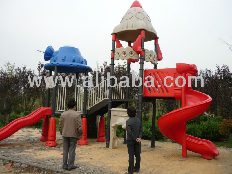 Plastic Playgrounds-Slide, Swing, Roof