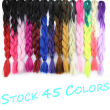 HOT!jumbo braid 100 synthetic braiding hair