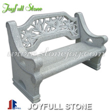 Hand Carved Natural Stone Benches with Back