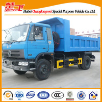 Right hand drive dump truck Dongfeng 4X2 sand tipper light truck with cheap price