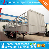 3 axle aluminium alloy fence trailer with stake truck / high side wall semi trailers