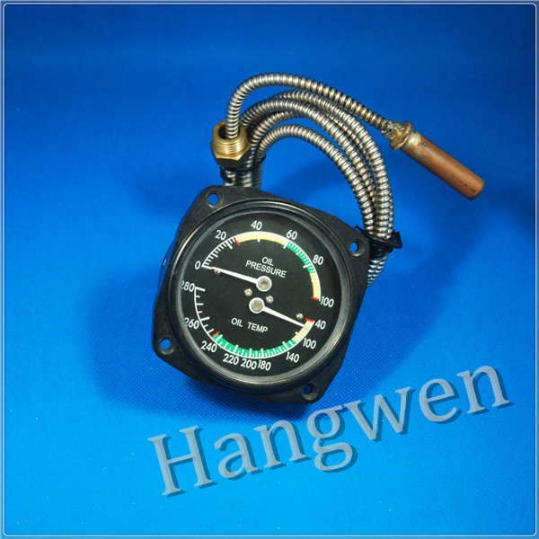 Oil temperature &oil pressure gauge
