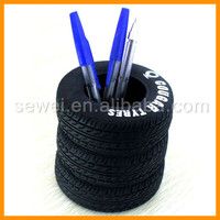 Unique design office tyre pen holder with custom logo