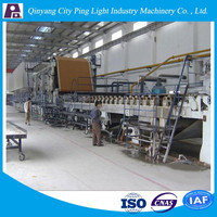 Culture Paper Making Machine Paper from Waste Paper Recycling Plant