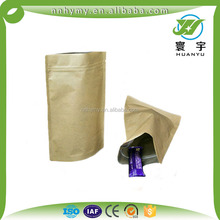 zipper top small kraft paper standing up packaging pouch with window with cheapest price