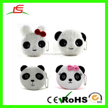 Cartoon Coin Purse White Handbag Kid's Gift Panda Style For Girl's Wallet