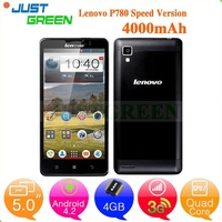 "Promotion! Lenovo P780 phone mobile 5"" 1280*720 MTK Quad Core 3G Calling 1GB/4G Play store GPS/BT/FM"