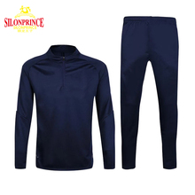 Silonprince fashionable custom size and color long sleeve athletic blank football training track suit