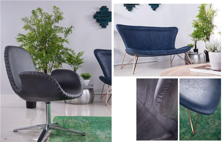 chrome base chair foshan factory for furniture stitching leather chair