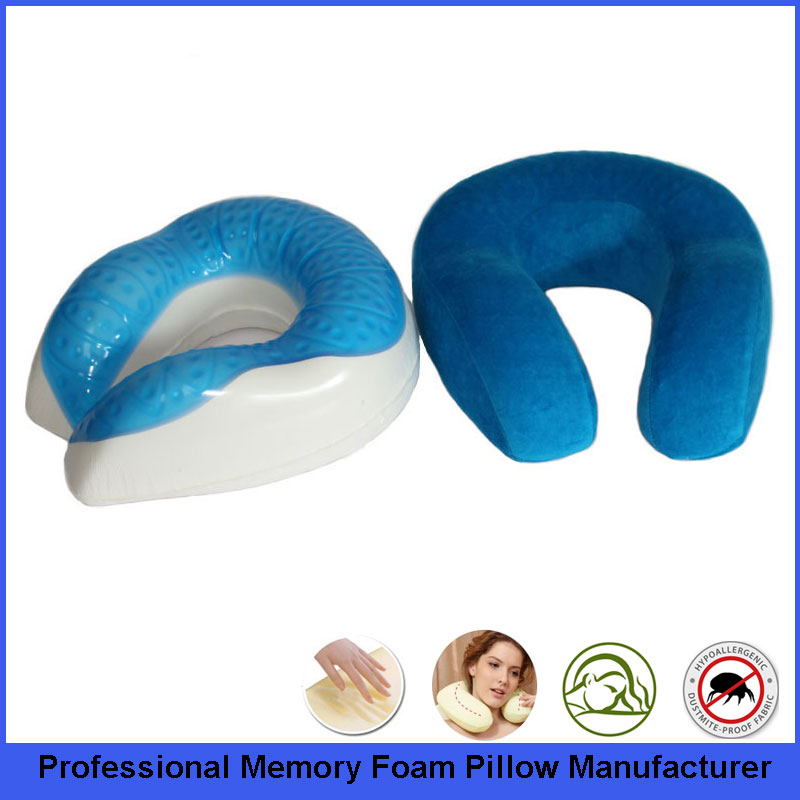 High Quality Custom Color Customized Gel Travel Neck Pillow With Great Comfort