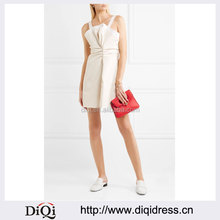 Wholesale Ladies Apparel Long Shoulder Straps Lace-trimmed Cotton Mini Dress(DQE0393D)