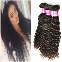 Fast shipping raw human hair wick 7a grade can be colored Malaysian curly expression hair weave