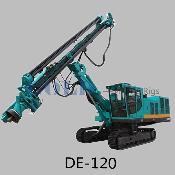 Portable hot sale DTH drilling rig DE120 Integrated rock drilling machine