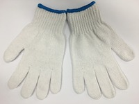 FTSAFETY cotton/polyester glove 7/10 gauge working hand glove string knitted gloves bleached/natural white