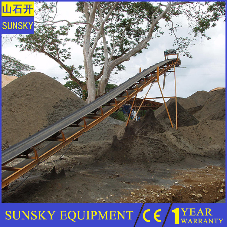 2 ply rubber conveyor belt for stone crusher sand and gravel