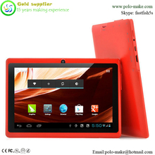 Cheapest price Allwinner A33 Q88 7 inch tablet PC with large battery 3000mAh