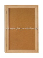 Standard sizes notice message board enclosed school wooden bulletin board showcase with lock