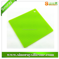 Hot sale best price rectangle pot pan pad,silicone trivet pot holder