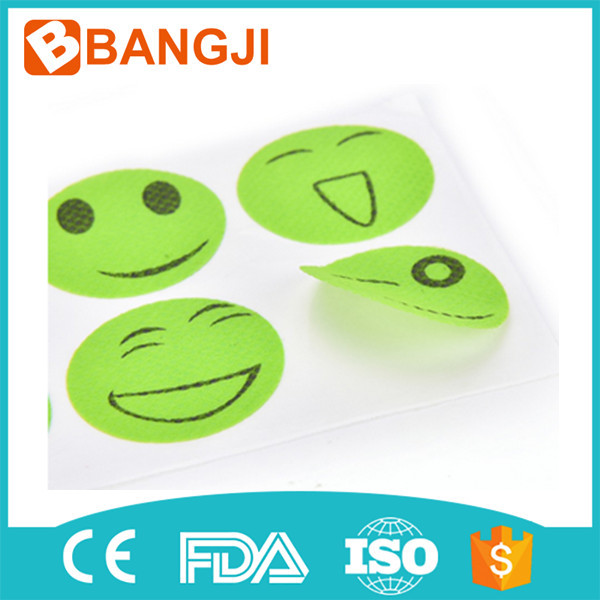 Natural Essential Oil insect Repellent Smiley Face Stickers Patches Random Color
