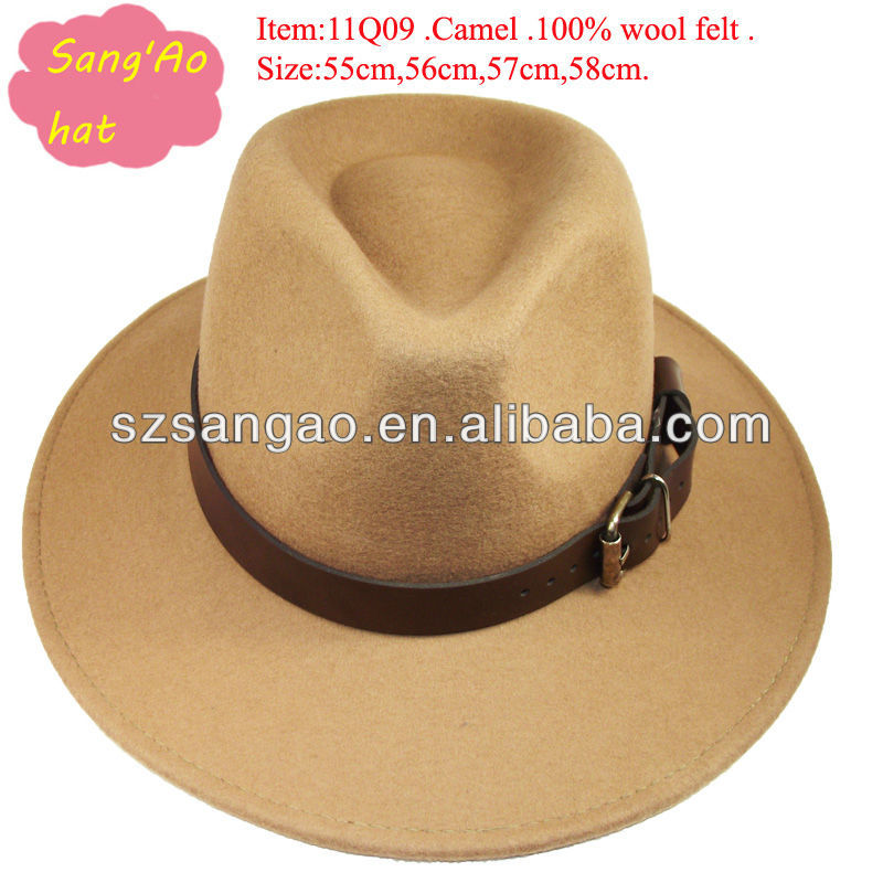 wholesale new camel wide brim bamboo fan hat