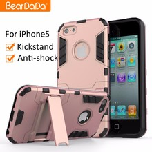 TPU+PC hybrid kickstand case for iphone 5 5s
