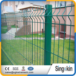 hot sale high quality welded curved fence nylofor 3d plastic fence panel