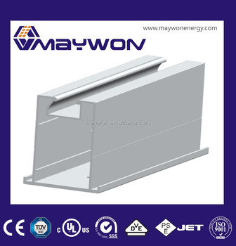 85 Extruded aluminum Rail 85 of solar PV panel mounting