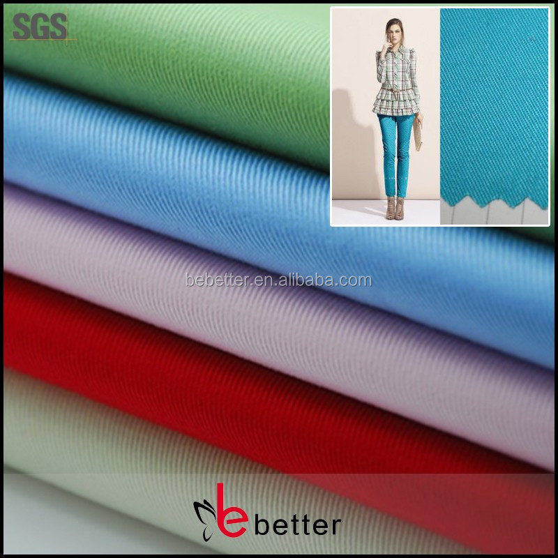 woven dyed polyester cotton twill men workwear fabric