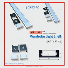 u shape recessed linear led profiles aluminum