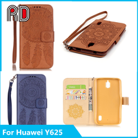 2016 Hot selling Wallet Magnetic Flip Stand TPU + PU Leather Case for Huawei Y625