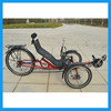 three wheeled shock absorber recumbent tricycle