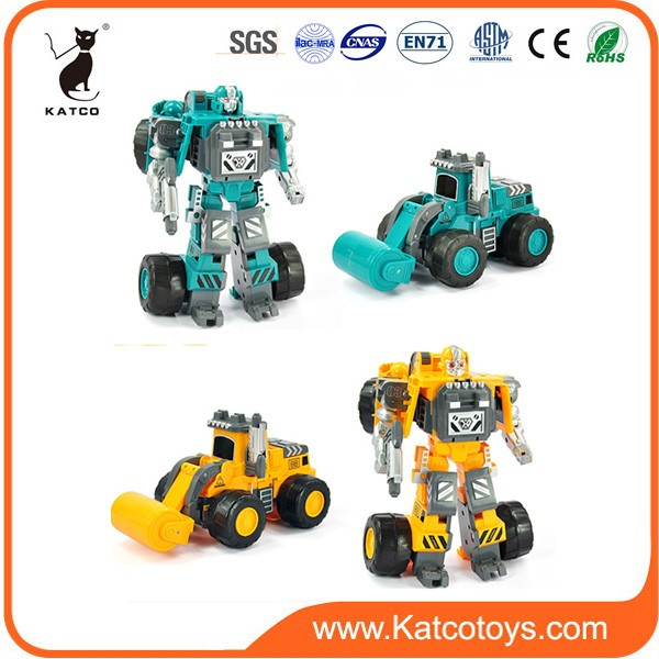 2016 battery operated ABS transforming robot car figure